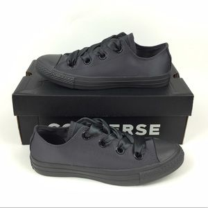 Converse Big Eyelets Black Shoes Sneakers Size 8.5